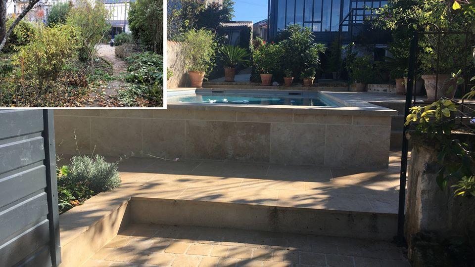 Travaux d'installation de piscine par Blet Maçonnerie à Mazerolles